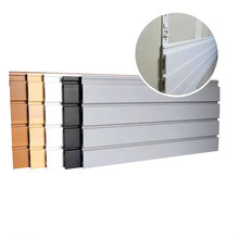 PVC תצוגת מערכת Stand מחוררת לוח <span class=keywords><strong>Slatwall</strong></span> פנל <span class=keywords><strong>slatwall</strong></span> וו