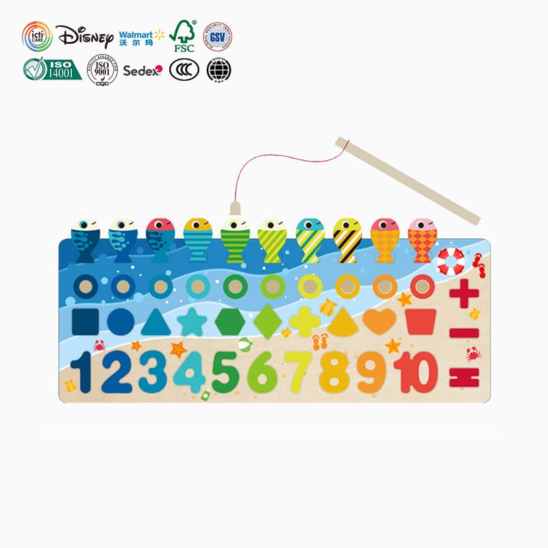 Cubo di colore Numero di Blocchi di Legno Giocattoli Per Bambini Primi Giocattoli Educativi