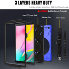 Tablet Samsung Soft Silicone Bumper Tablet Cover For Samsung Galaxy Tab A 10.1 Inch T510 T515 Case Rotation Stand Hand Carry Shoulder Strap