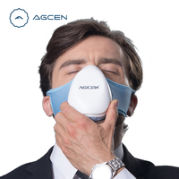 Personal Wearable Pollution Dust Mask Air Cleaner PM2.5 N95 Mask Air Filter Face Portable Air Purifier Mask Runner Outdoor