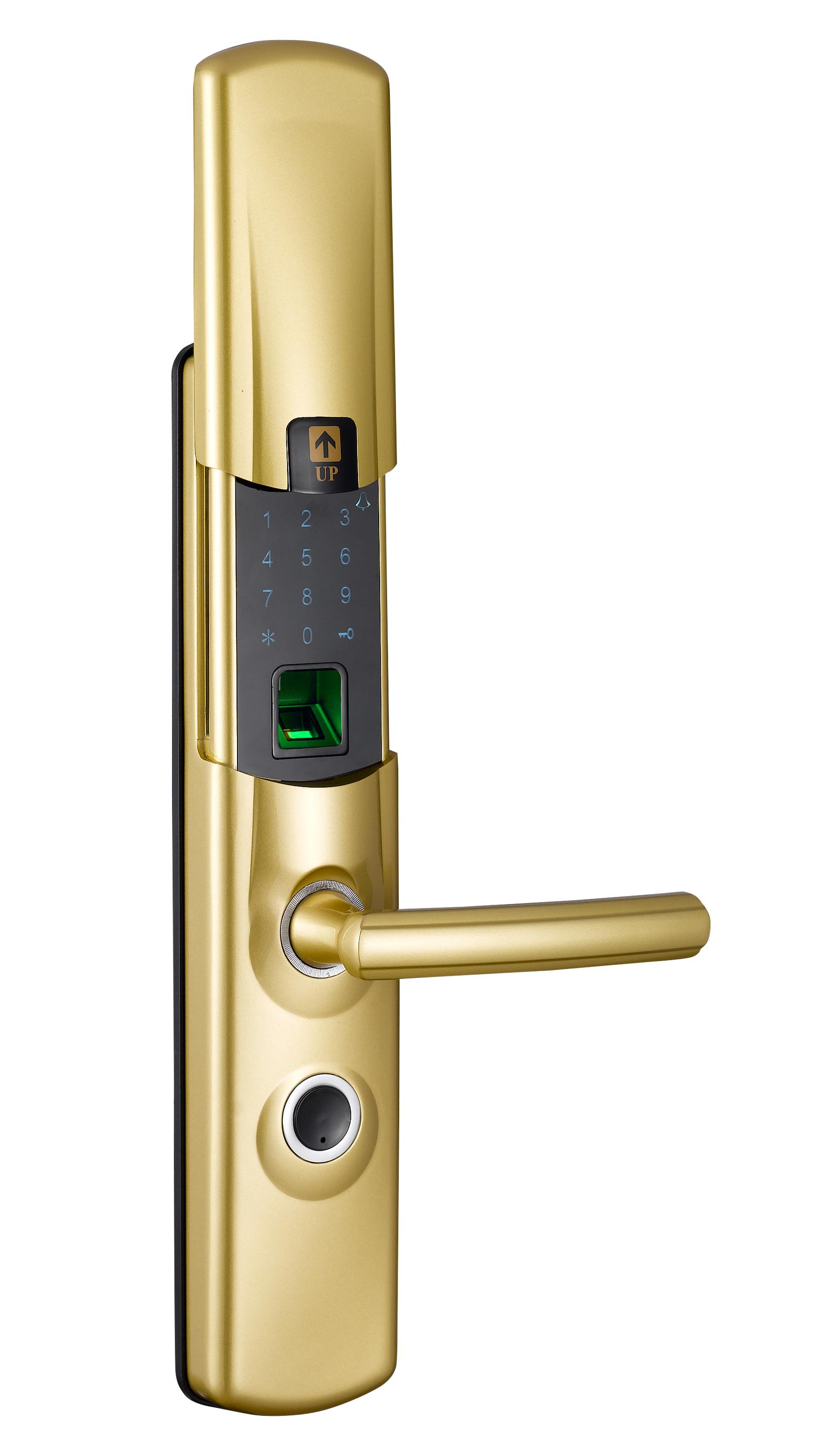 #F01 Zinc Alloy Flip cover fingerprint door lock  Four independent unlocking methods