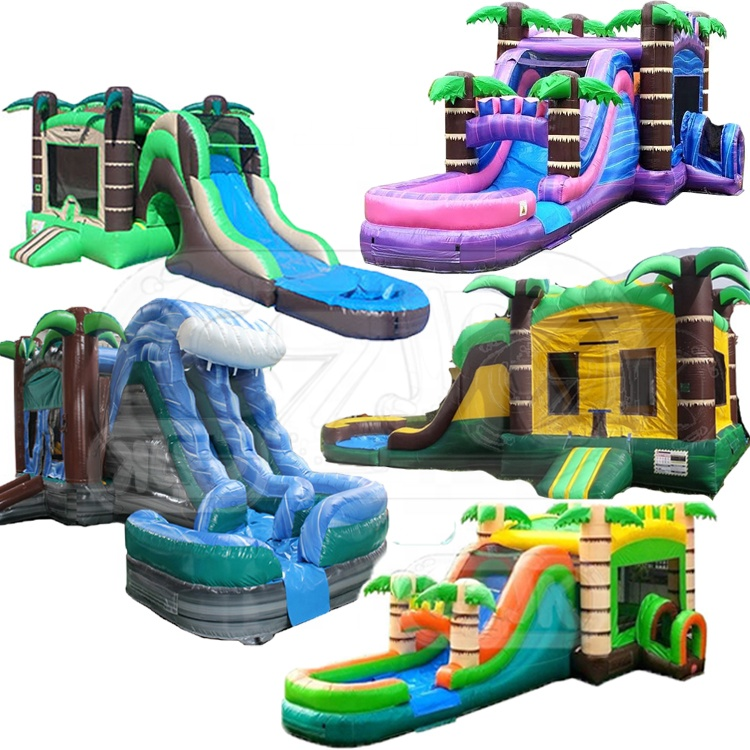 coconut tree jumper inflatable bouncer jumping bouncy castle bounce house