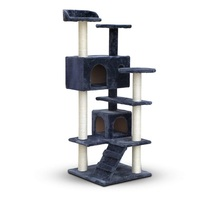 Large Kitten Activity Pet House Play Toy Scratch Post Cat Tree Tower Condo