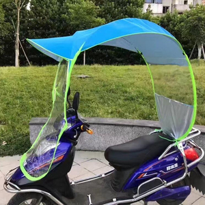 Cheap electric scooter rain umbrella for electric scooter windproof sunshade motorcycle umbrella for rain