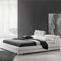 contemporary italian design bedroom furniture pu leather classic style hotel king soft bed