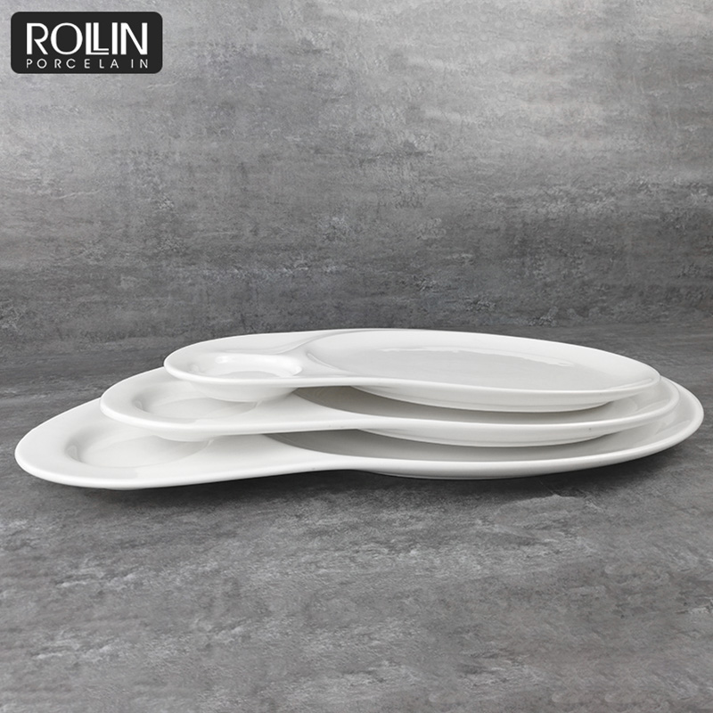 High Quality Porcelain Plate Ceramic Plate Durable Tableware