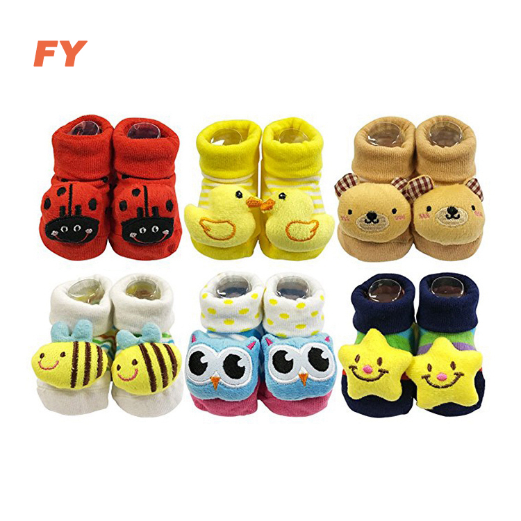 Custom design infant kleinkind neugeborenen 3d baby anti slip baumwolle socken geschenk sets babi sox anti slip socken kinder baby socken grip
