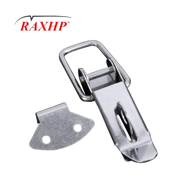 Silver Stainless Steel Spring Loaded Toggle Tool Case Box Chest Trunk Latch Catches Hasps Clamps