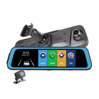 "Night Vision 10"" Streaming Rear View Mirror Dual-Lens 1080P Camera OEM ODM Customized UI Mirror Dash Cam Video"