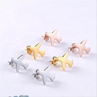 Yiwu Aceon Stainless Steel Women Tiny Jewelry Latest Design New Style Airplane Stud Earring