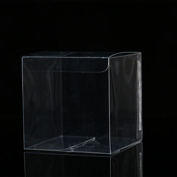 Wholesale Transparent Packing Square Gift Box Custom Clear PET Plastic Display Boxes
