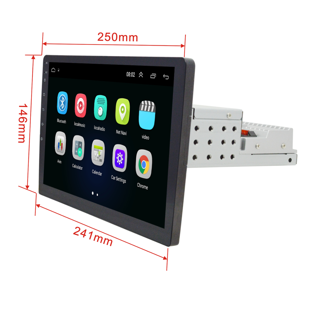 "10.1 ""Android 8.1 1DIN/2DIN Auto radio Player WIFI/3G/4G OBD2 BT GPS MP5 Lettore multimediale di navigazione per auto audio video"