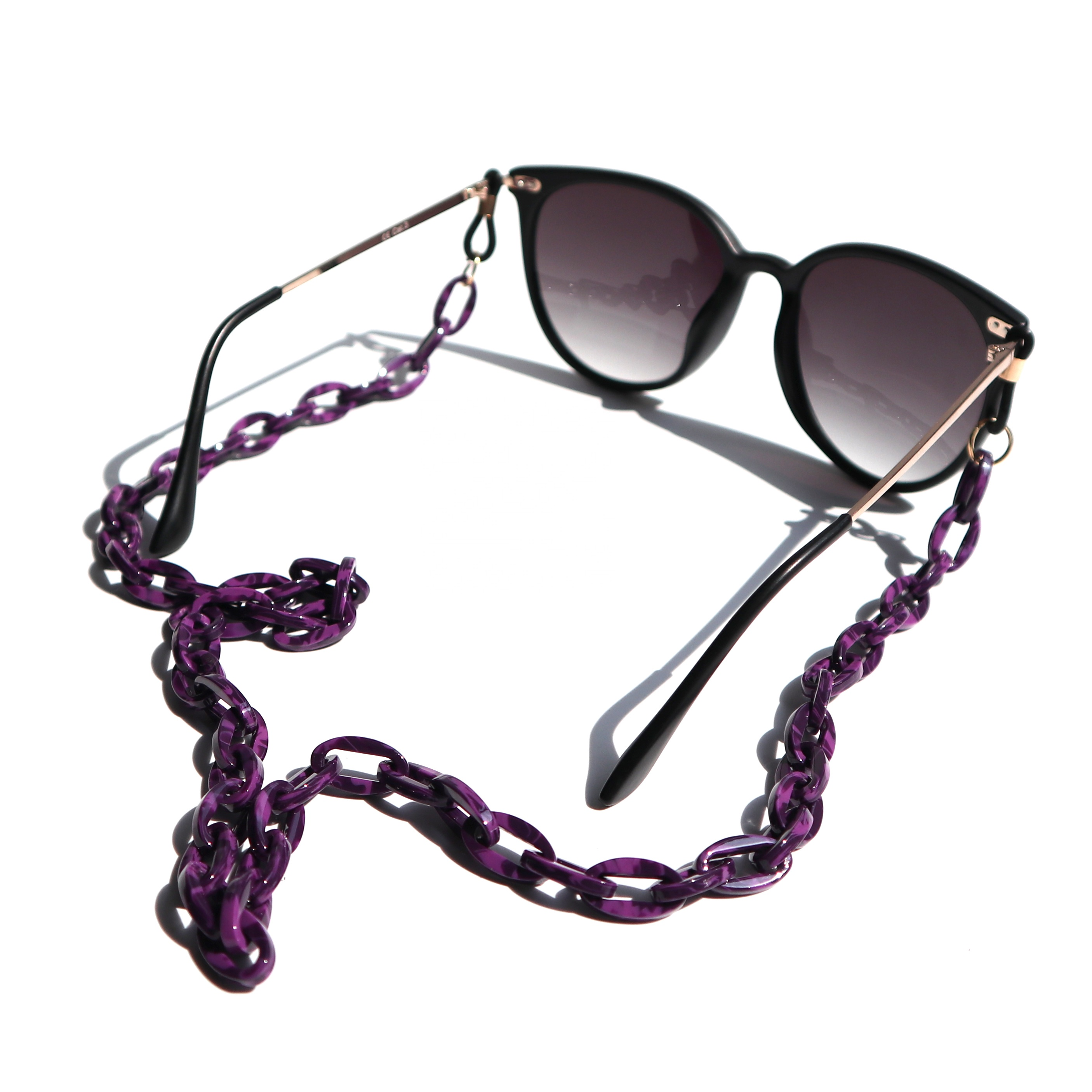 Luxury Eyeglasses Chain Acetate Sunglasses Chain Holder Cords for Sunglasses Top Quality Stock Eye Glass Necklace Cord Chain