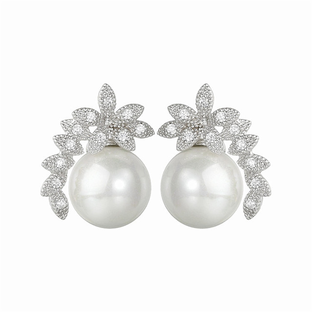 Factory Direct Sales Pearl Jewelry Fashion Wholesale Silver Jewellery Women Fashion Earring