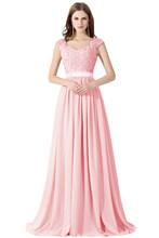 Vestido de Festa Casamento Сексуальное Прозрачное Шифоновое Кружевное Платье С Открытой Спиной Для Свадебной Вечеринки Для Подружки Невесты(Китай)