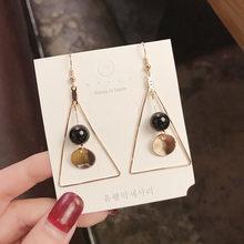 Женские асимметричные серьги-кольца FACEINS, модные длинные сережки с кисточками и звездочками, эффектные украшения для ушей(Китай)