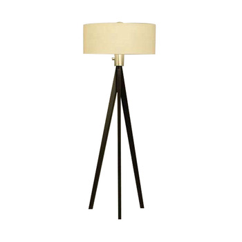 Chinese wholesale contemporary white fabric shade metal frame tripod floor lamp for home hotel decoration