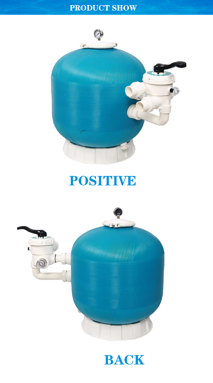 Factory Supply Wholesale Automatic High Pressure Big Flow Rate Side Mount Above Ground Pool Sand Filter