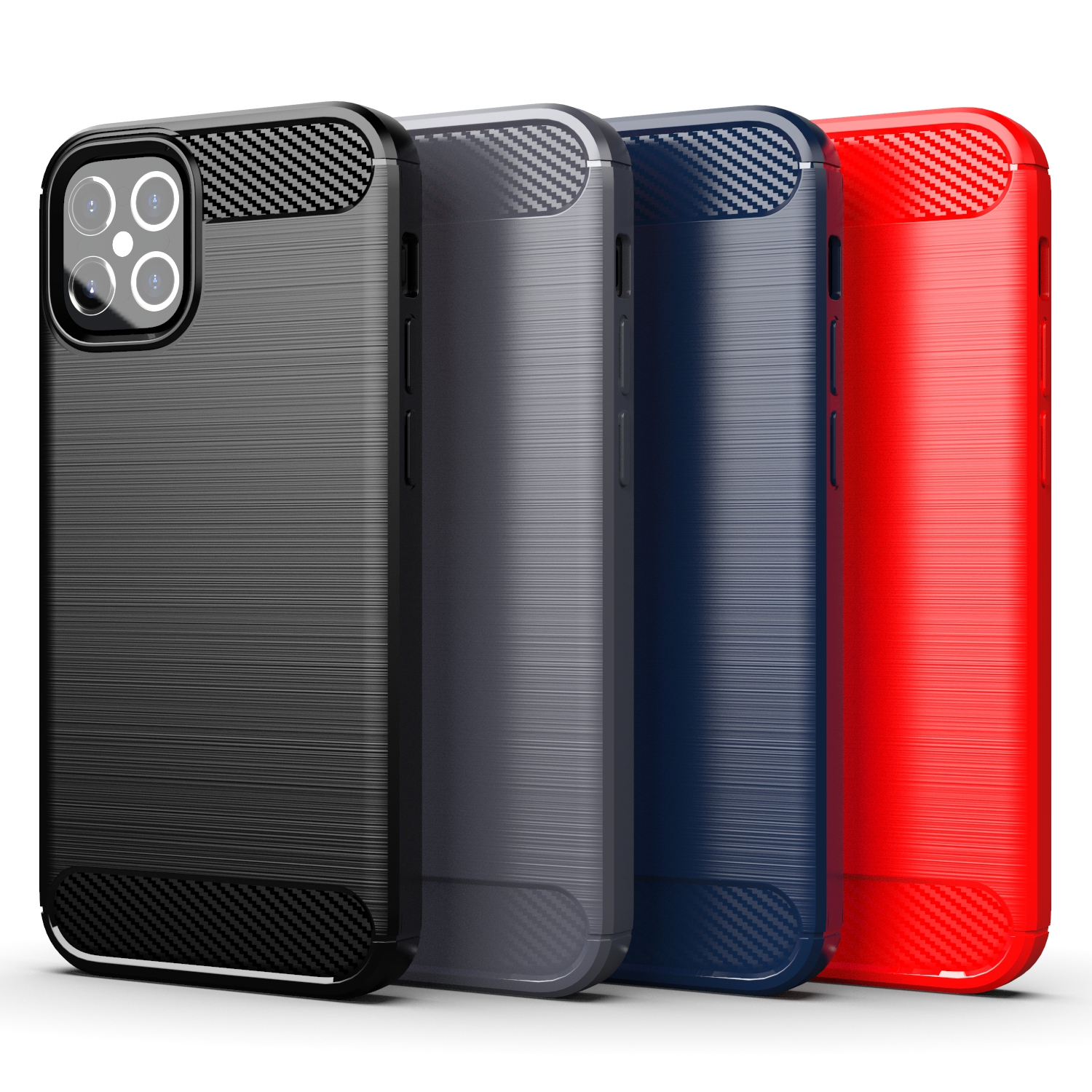 Factory Wholesale Soft TPU Case For iPhone 12 Pro <strong>Max</strong> Back Cover Carbon Fiber Case For iPhone 12 Case