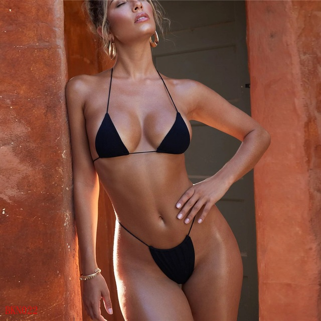 2020 en moda sutyen üçgen mayo en seksi kadın yaz tanga mayo bikini
