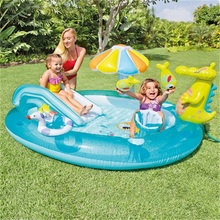 Grote Opvouwbare Outdoor Tuin Indoor Babys Plastic Pvc Opblaasbare <span class=keywords><strong>Zwembad</strong></span> met water spray