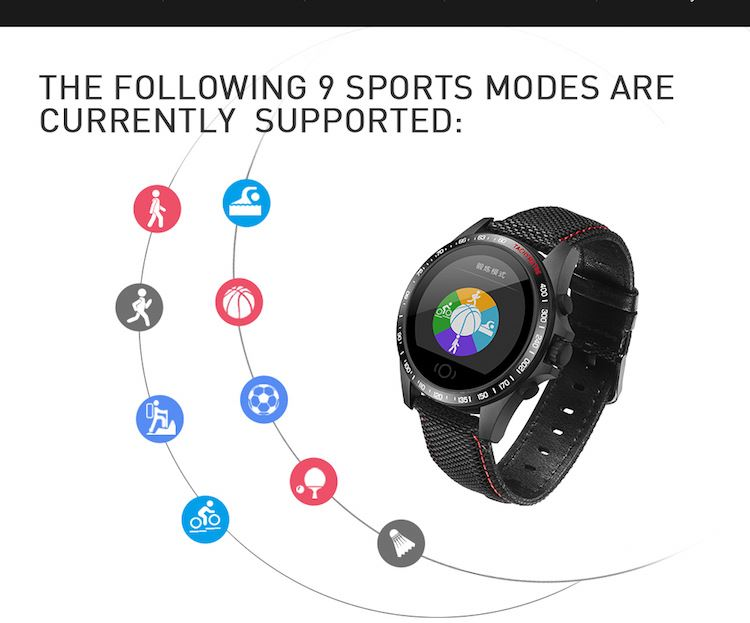 Men's activity smart bracelet CK23 health fitness tracker watch wristband with leather strap
