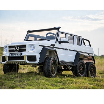Licensed Mercedes Benz G63 licensed kids electric car toy power for big kids 6X6 wheel 12V ride on car 4 seater