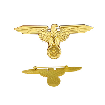 Custom gold silver metal pin medal eagle masonic badges