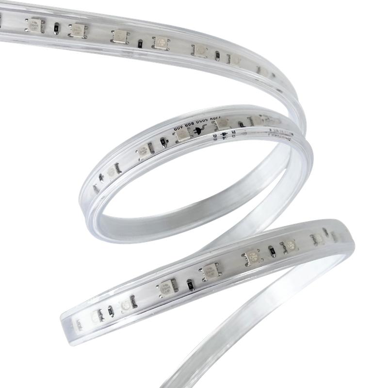 220V RGB LED strip light NO wires version 60LED/meter high bright 5050 LED can be custom made AC 110V