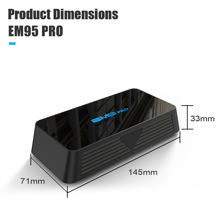 NEW Released EM95 pro New Chipset s905x3 TV Box english blue movie video free download