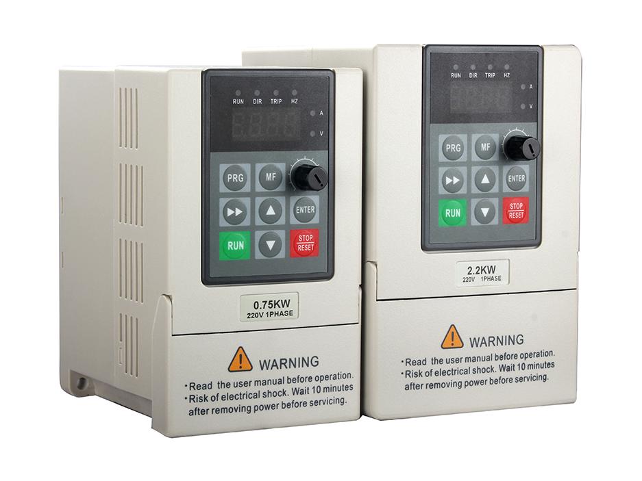 D12 series 220v 0.4KW 0.75KW1.5KW2.2KW   60hz 50hz single phase Mini inverter  AC drive