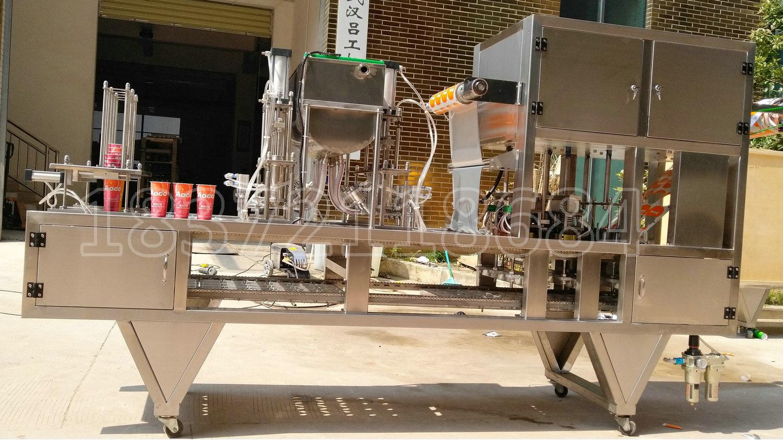 التلقائي زبدة الفول السوداني كأس ملء وختم آلة ل الكاكاو الشيا زبدة