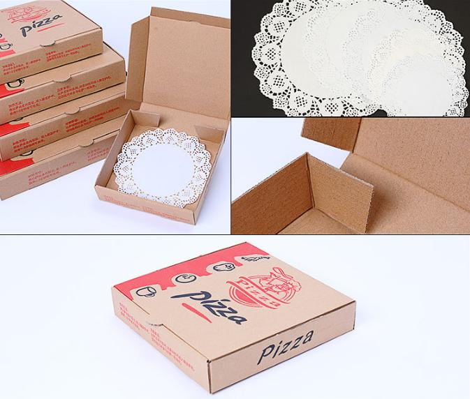 10/12/24 pouces carton ondulé personnalisé en vrac pizza boîte d'emballage
