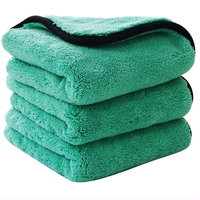 Premium Thick Plush Car Detailing Wash Cleaning buffing Cloth Towel Custom 1200 gsm Microfiber Car Drying Towel