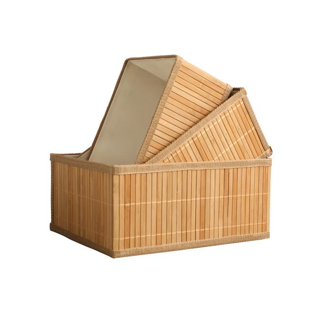 Boa venda e fornecimento direto da fábrica bom conjunto 3 desdobramento cesta do armazenamento de tecelagem de bambu