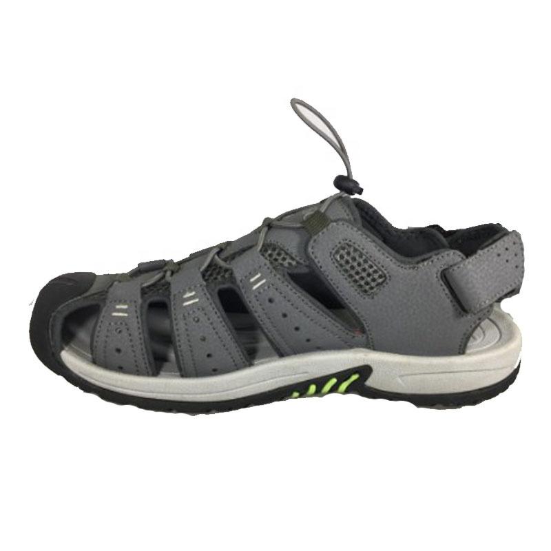 OEM outdoor summer casual sport sandals men ankle straps beach sandals water sport sandals auto lace toe cap men shoes