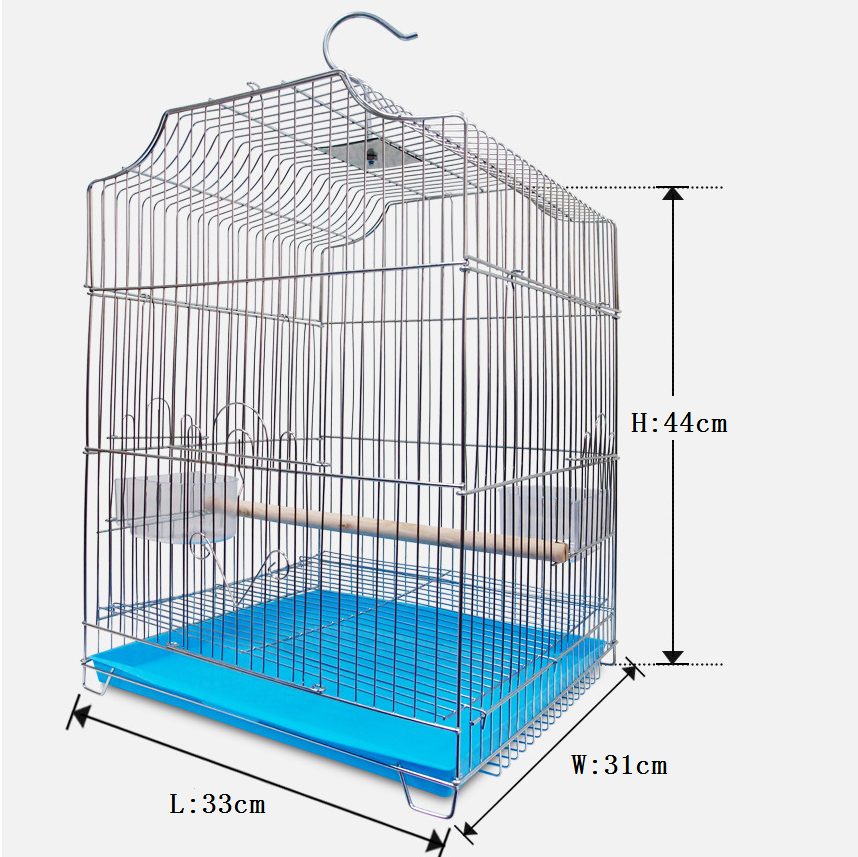 Wholesale Wrought Portable Chinese Large Aluminium Stainless Steel Iron Pet Bird Parrot Cage
