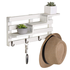 Manufacture vintage natural wall mounted display floating shelf wood white