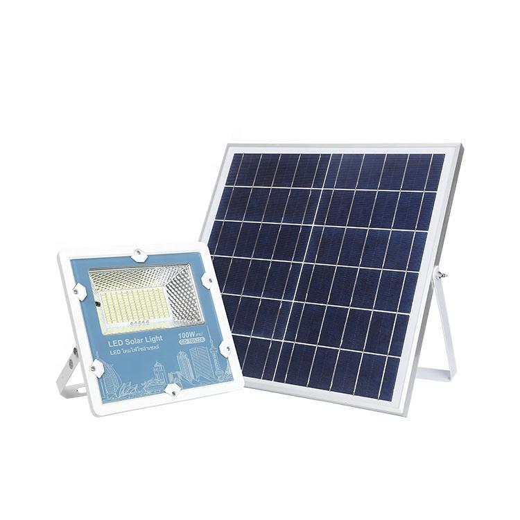 Yüksek güç IP67 açık su geçirmez 50w 75w 100w 150w 200w 300w bahçe ledi sel güneş işık