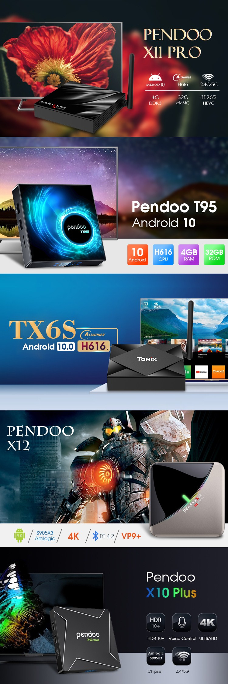 4gb 64gb Tx6s H616 Ultra Hd Provided Android Dongle Satellite Receiver Smart Tv Box 4k