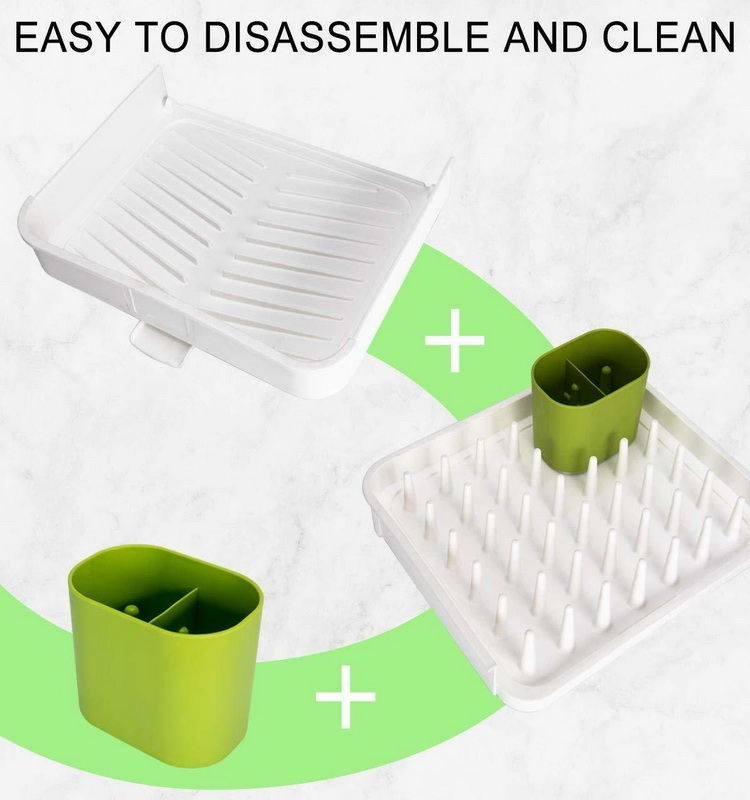 Expendable Plastic Dish Drying Drainer Rack