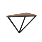 Best Seller Custom Design Triangle Floating Wood and Metal Iron Wall Shelf