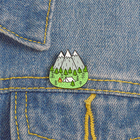 Custom Mountains Wood Jungle Peak Nature Forest Camping Metal Enamel Pin Badge