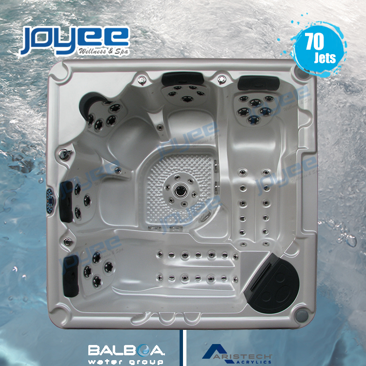 JOYEE hot tub/spa/whirlpool jacuzzi outdoor large bath spa tub massage soaking big bathtub with air bubble jet