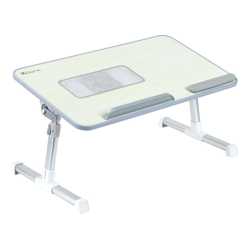 Wooden Portable Folding Height Adjustable Bed Tray <strong>Laptop</strong> <strong>Table</strong> with Cooling Fan