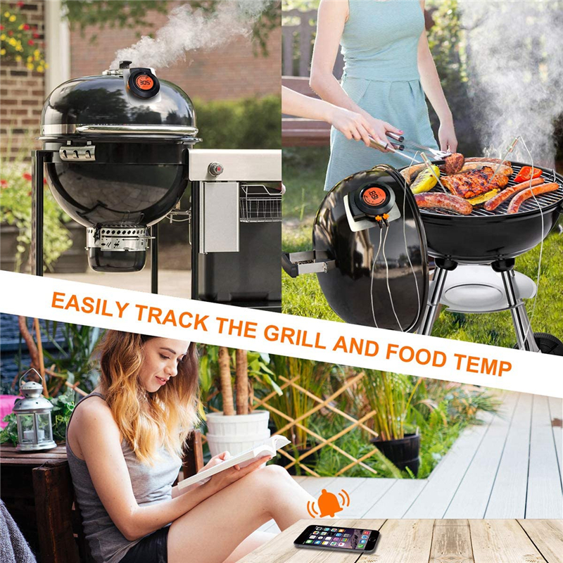 Digital Instant Read Meat Thermometer Kitchen Cooking Grill Thermometer for BBQ Smoker Thermometer