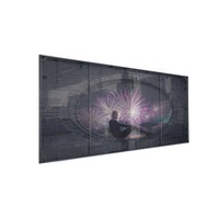 P3.91 P7.81 smd full color indoor curtain led panel transparent glass led display screen