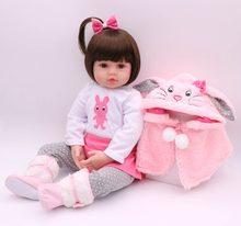 Полная серия 47 см, силиконовая кукла для младенцев, супер Реалистичная кукла для маленьких мальчиков, кукла для девочек, Рождественская игр...(Китай)