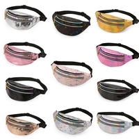 Female Belt Bag Black Geometric Aireebay Holographic Waist Bags Women Pink Silver Fanny Pack Female Belt Bag Black Geometric