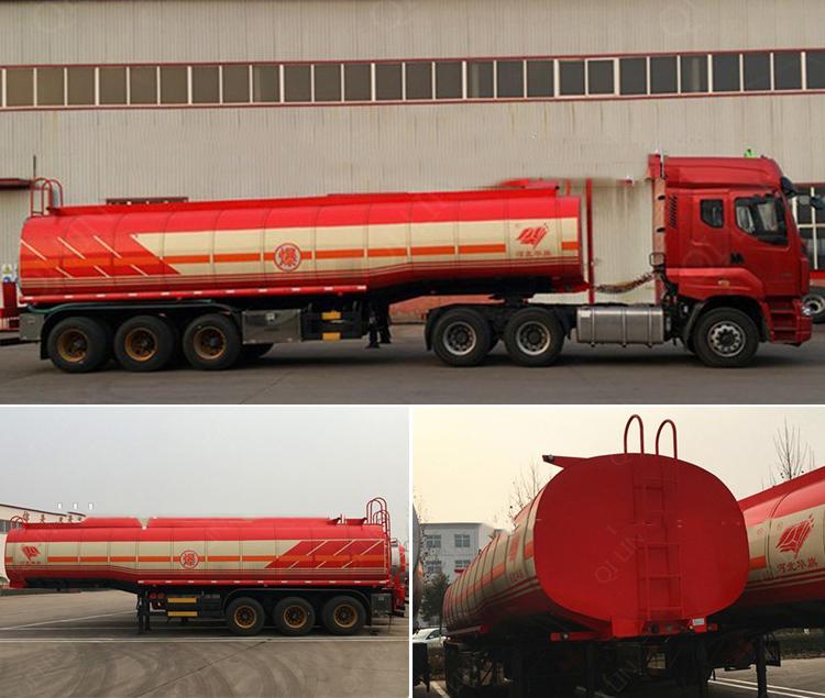 Adr Certification Flammable Liquid Tanker Semi Trailer